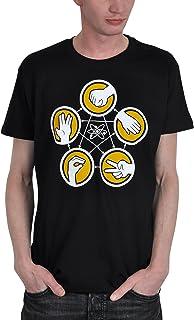 Elbenwald The Big Bang Theory – Camiseta de manga corta con diseño de lagarto y texto impreso en la parte delantera y en l...