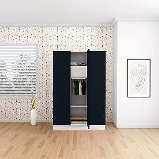 GODREJ INTERIO Slimline 3 Door Steel Almirah with Locker and Drawer - Pacific Blue,Glossy Finish