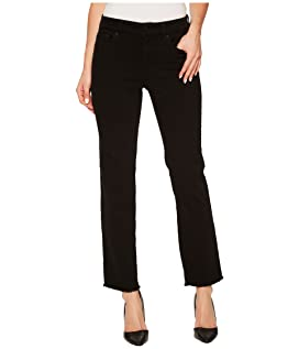 Sheri Slim Ankle w/ Fray Hem in Black