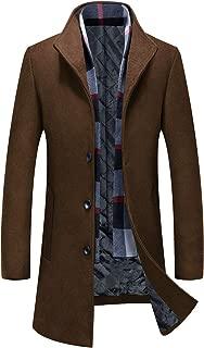 コート メンズ チェスターコート 50-80%ウール 中綿 立襟 マフラー付き 暖かい 秋冬アウター 男性コート