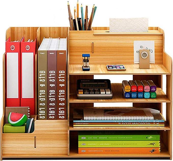732 opinioni per Catekro Portapenne da scrivania ad alta capacità Portapenne/Libreria in legno,