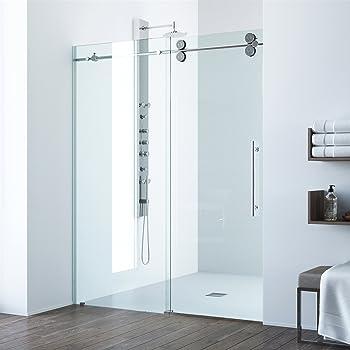 Vigo Frameless Tempered Glass Rectangle Sliding Shower Door