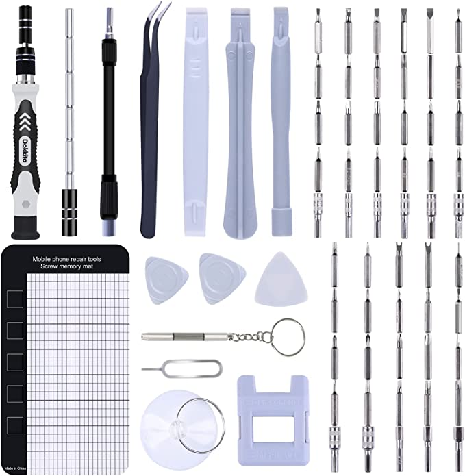 104 opinioni per Set Cacciaviti Precisione Magnetici Professionali, Dokkita 70 in 1 Kit