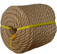 Twisted Manila Rope Jute Rope (1 in x 100 ft) Natural Thick Hemp Rope for Crafts, Nautical, Landscaping, Railings, Hanging Swing