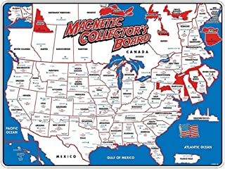 State Magnet Magnetic Collectors Map Board