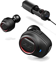 JVC XX True Wireless Earbuds, Bluetooth connectivity, Extreme Deep Bass Ports, Bass Boost, Voice Assistant Compatible, Up to 3-9 Hours Battery Life - HAXC70BTR (Renewed)