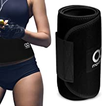 Maxboost Waist Trimmer Premium Neoprene Ab Belt for Men & Women [Black, Classic Medium] Workout Sweat Enhancer Exercise Adjustable Wrap for Stomach- Enjoy Sweet Abdominal Muscle & Back Support