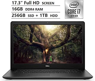 "Dell Inspiron 17 Laptop, 17.3"" Full HD Screen, 10th Gen Intel Core i7-1065G7 Quad-Core Processor up to 3.90GHz, MX230 Grap..."