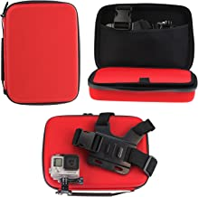 Navitech Red Shock Proof Hard Storage Case/Cover Compatible with TheThe Kitvision Escape HD5