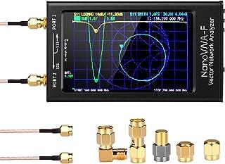 Upgraded NanoVNA-F Vector Network Analyzer HF VHF UHF UV VNA Antenna Analyzer 10kHz-1.5GHz 4.3 inch Touch Screen, Measuring S-Parameter Voltage SWR, Phase, delay, Smith Chart (V3.1 Version)