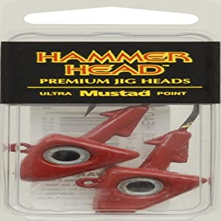 Big Hammer Jig Head with 4/0 Hook, Red, 1-Ounce