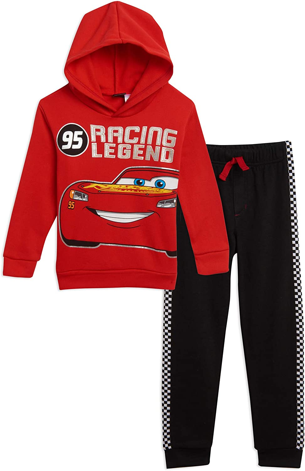 Disney Lightning McQueen Pullover Hoodie and Pants Set Cars Red/Black