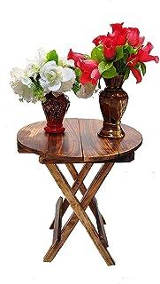 VDIX Beautiful Wooden Folding Side Table