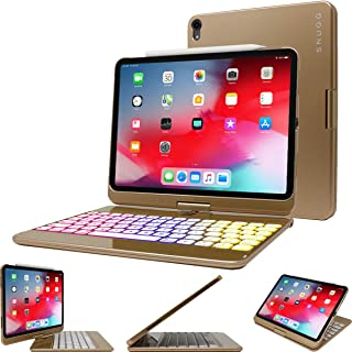 Snugg iPad Pro 12.9 2018 Keyboard, Snugg [Gold] Backlit Wireless Bluetooth Keyboard Case Cover 360° Degree Rotatable Keyboard for Apple iPad Pro 12.9 2018 (Apple Pencil Compatible)