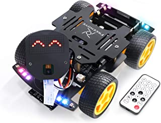Freenove 4WD Car Kit for ESP32-WROVER (Contained) (Compatible with Arduino IDE), Dot Matrix Expressions, Camera, Obstacle ...