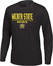 J America NCAA Wichita State Shockers Boys Youth School Slogan Long Sleeve Callout Poly Tee, Black, Large