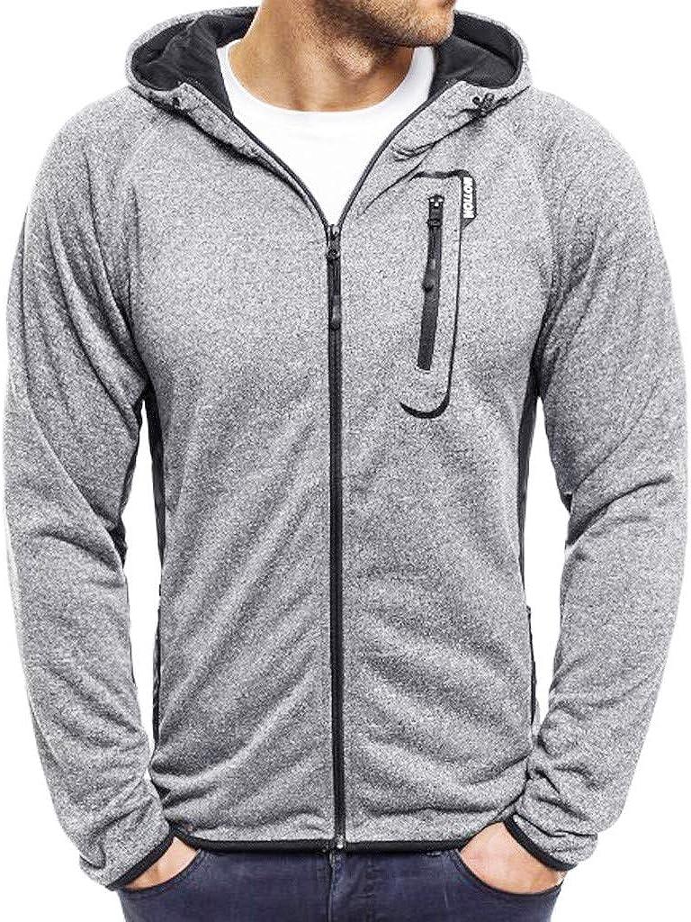 MODOQO Men's Zipper Hoodies Jacket Loose Fit Sweatshirt Outwear Coat for Autumn