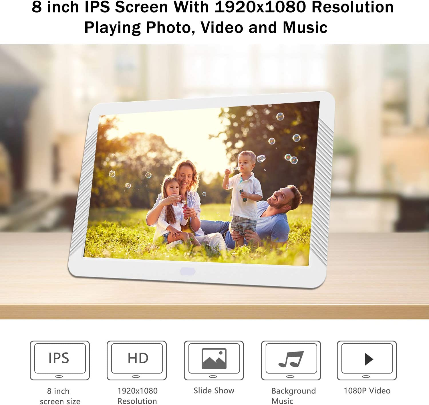 IPS Screen Remote Control Atatat 11.6 inch Digital Picture Frame ...