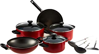 Prestige Classique Non-stick Cookware Set of 12-Piece, PR21179, Red