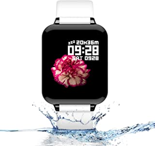 Smart Watch, Fitness Tracker for Android and iOS Phones with Heart Rate & Blood Pressure Monitor, Sleep Monitort, Information Reminder & Step Counter Waterproof Fitness Tracker for Men, Women and Kids
