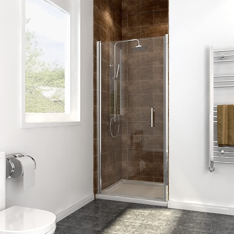 760mm Frameless Pivot Shower Door Glass Screen Reversible Shower Enclosure