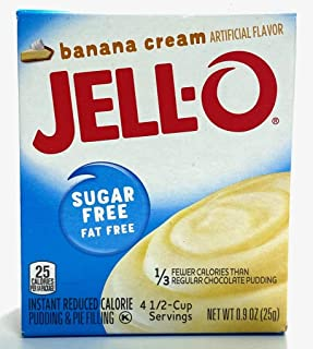 Jell-O Banana Cream Sugar Free Pudding & Pie Filling (4-Pack)
