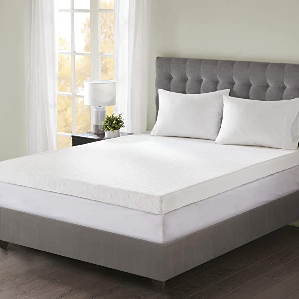 Flexapedic By Sleep Philosophy 4 Gel Infused Memory Foam Mattress Topper With 3M Stain Release Cover Queen