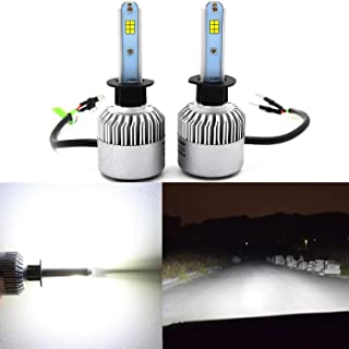 Alla Lighting New CSP Xtremely Bright LED Headlight Bulbs w/High Power 8000Lm 6500K White Lamps (H1)