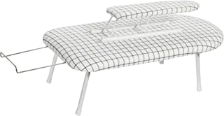 STORAGE MANIAC Tabletop Ironing Board with Sleeve Board and Iron Rest, Cotton Cover