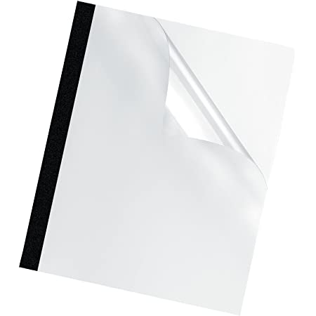 2mm Black Presentation Covers RAYSON TBC-2BK-25UK Thermal Binding Cover A4 Size Holds About 15 Sheets Pack of 25