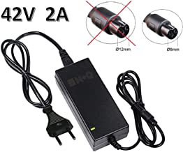 M+Q Cargador Hoverboard 42V 2A con Conector 3 Pines 8mm DE DIAMETRO. Adaptador DE Corriente 3 Pin Compatible Hoverboard. NO CONFUNDIR con Otro Mayor DE 12 MM DE DIAMETRO