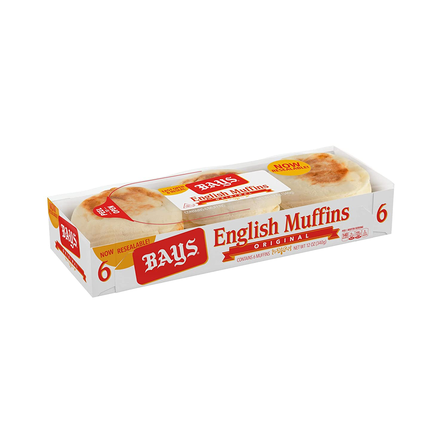 Bays Original English Max 58% OFF Muffins Classic Ct Packages 12 6