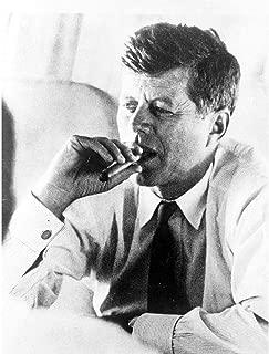Wee Blue Coo Vintage Photography Portrait President John Kennedy Smoke Cigar JFK USA Unframed Wall Art Print Poster Home Decor Premium