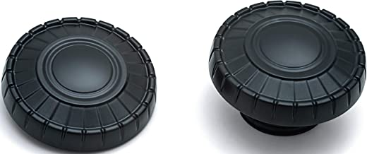Kuryakyn 7388 Motorcycle Accent Accessory: Aztec Fuel Caps for 2014-19 Indian Motorcycles, Satin Black, 1 Pair