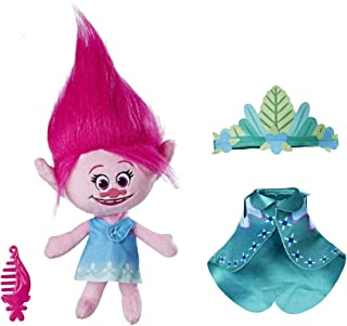 DreamWorks Trolls Queen Poppy Talkin' Troll Plush Doll, Ages 4 and up (Amazon Exclusive)
