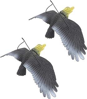 TOYANDONA 2Pcs Eagle Figurines Statue Realistic Bird Figurines Sculptures Bird Scare Statue Hanging Bird Repellent Devices...
