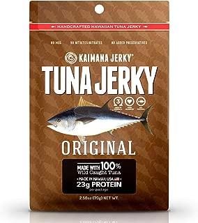 Kaimana Wild-Caught Ahi Tuna Jerky - Original   Rich in Omega-3s & High in Protein   All-Natural & Organic Fish Jerky (2.5 oz)