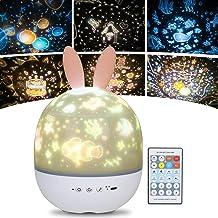 URAQT Sterrenhemel Projector, LED Projector Lamp Kinderen, Ocean Wave Projector Nachtlampje, Muziek Nachtlampje Lamp, Ster...