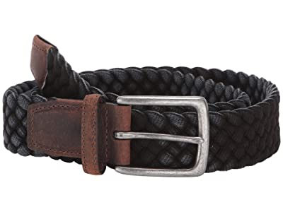 Torino Leather Co. 35 mm Italian Washed Woven Cotton (Black) Men