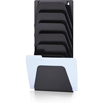 Letter//Legal Officemate Wall File Holder 7 Pockets 21505 Black Officemate International