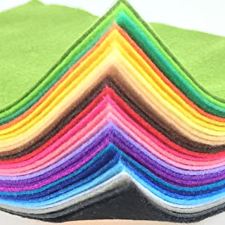 28pcs Thick 1.4mm Soft Felt Fabric Sheet Assorted Color Felt Pack DIY Craft Sewing Squares Nonwoven Patchwork (15x15cm)