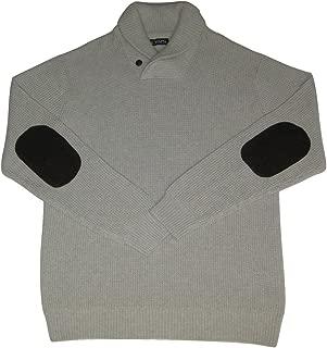 Chaps Men's Waffle Knit Shawl Neck Sweater, Arrow Heather