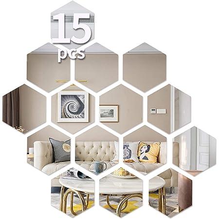 Nouveau 10pc Noir Réfléchissant Miroir parchemin Damassé Mur Art Décor Acrylique Stickers