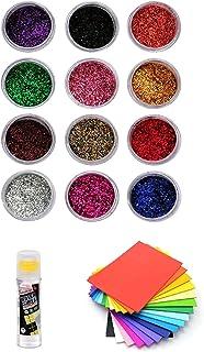 Set of 12 Multi Color Glitter Shaker Jars, Glitter Powder for Resin, Arts and Craft, Glitter for Body, Nail, Face, Christm...
