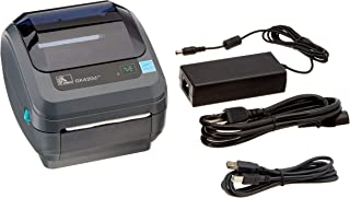 Zebra - GK420d Direct Thermal Desktop Printer for Labels, Receipts, Barcodes, Tags, and Wrist Bands - Print Width of 4 in - USB and Ethernet Port Connectivity (Renewed)