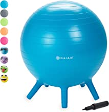 Gaiam Kids Stay-N-Play Children's Balance Ball - Flexible School Chair Active Classroom Desk Alternative Seating | Built-I...
