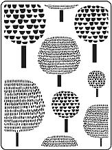 "Darice Embossing Folder Folder Sjabloon, Boom Dot Trees - 4.25""X5.75"""
