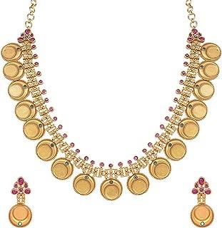 Best kempu stone gold necklace Reviews