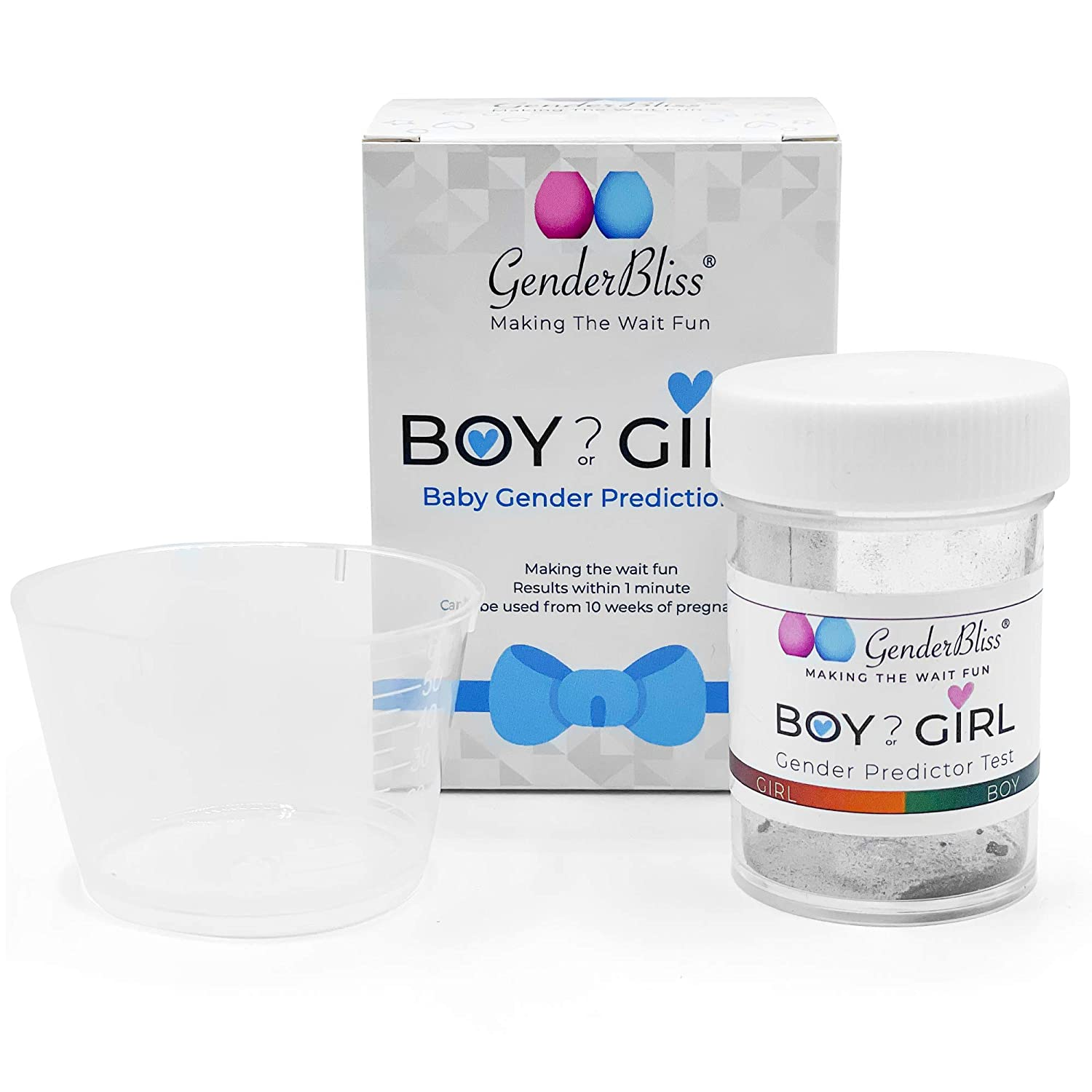 GenderBliss Gender Prediction Test Kit - Early Pregnancy Boy or Girl Gender Reveal Home Test - Non-invasive Safe for Mother and Baby. Find out your babies gender as early as 10 weeks!
