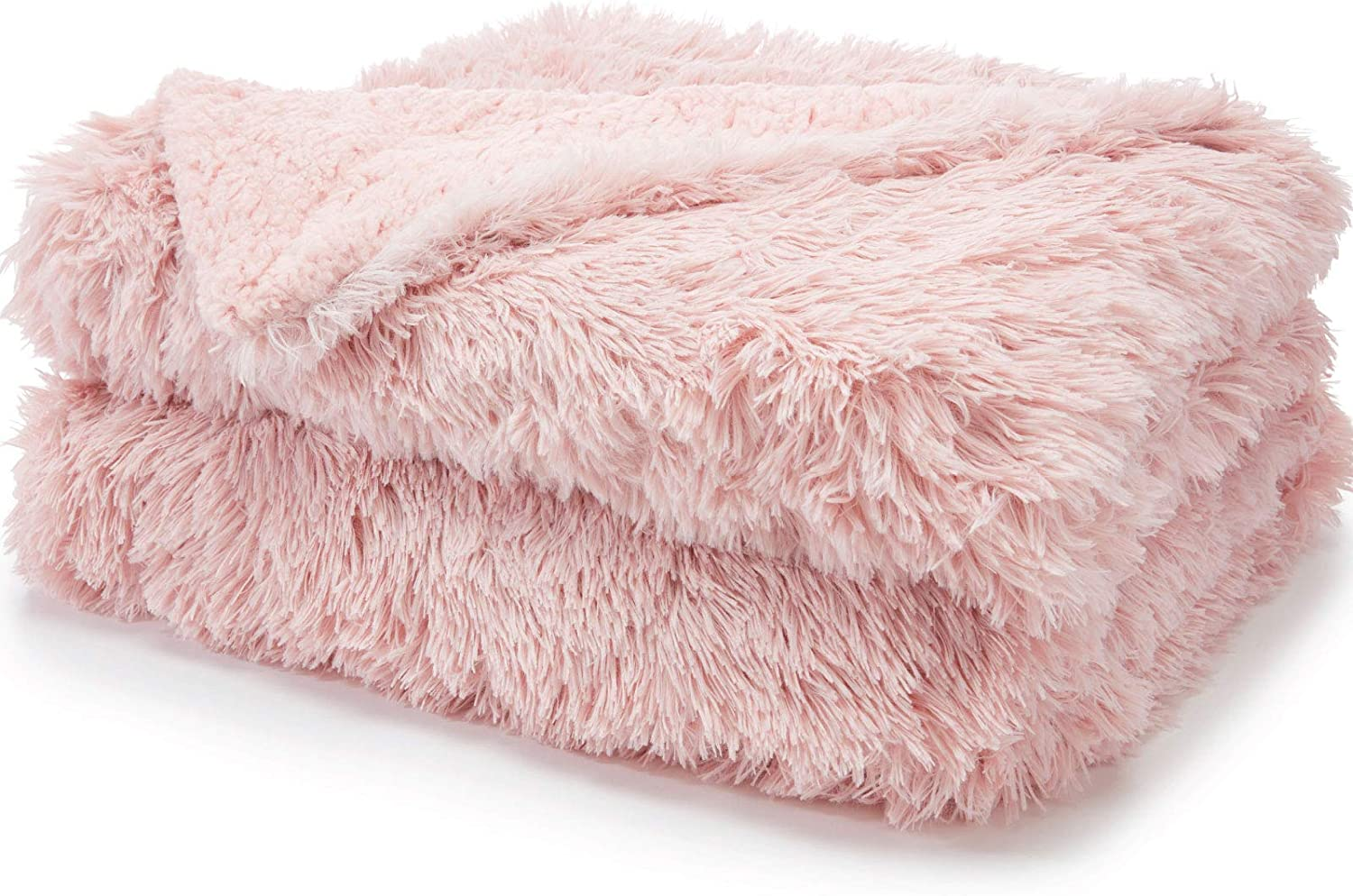 40% OFF Cheap Sale 5 ☆ very popular The Connecticut Home Company FluffyShagBed Throw Bl Soft